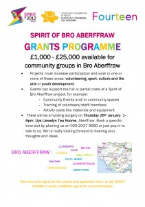 Spirit of Bro Aberffraw grants